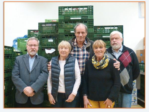 v.li: Frank Hildebrandt, Barbara Kotte, Erasmus Schulte, Sonja Ruppert, Wolfgang Amft