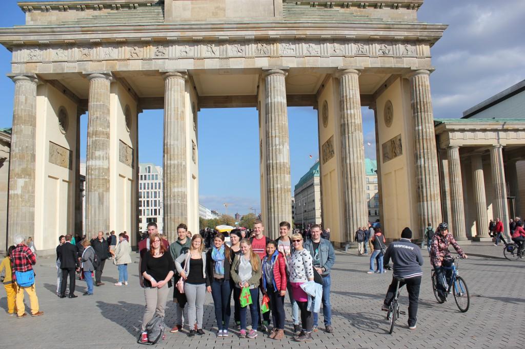 ...und vorm Brandenburger Tor