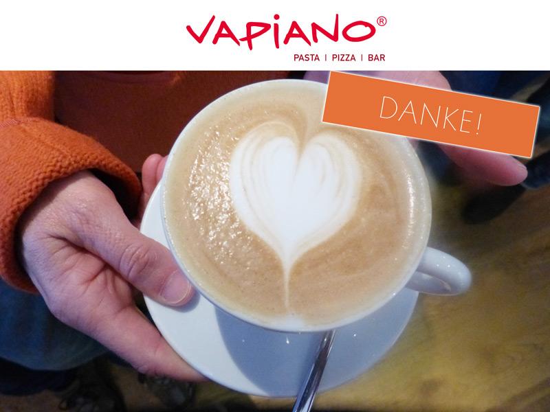 Vapiano – ein Herz für die Tafel