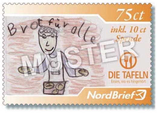 75 ct Briefmarke der Tafel Kiel